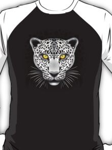 White Leopard with Yellow Eyes T-Shirt