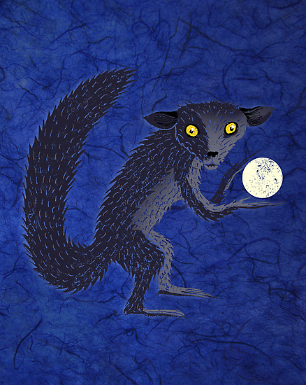 Aye Aye steals the moon by SusanSanford