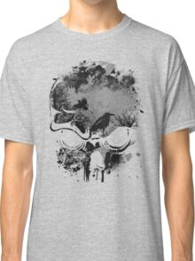 Skull with Crows - Grunge Classic T-Shirt