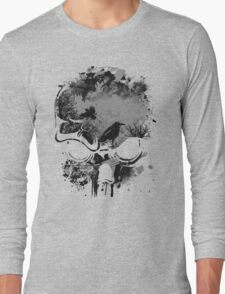 Skull with Crows - Grunge Long Sleeve T-Shirt