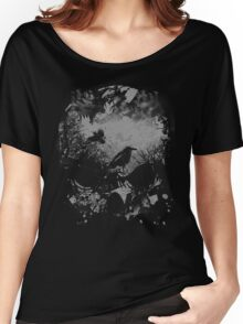 Skull with Crows - Grunge Women's Relaxed Fit T-Shirt