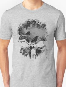 Skull with Crows - Grunge Unisex T-Shirt