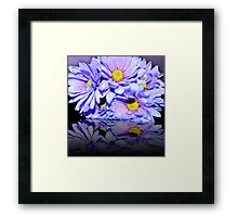 Purple Flower Reflection Framed Print