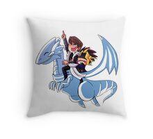 Blue Eyes White Jet Throw Pillow