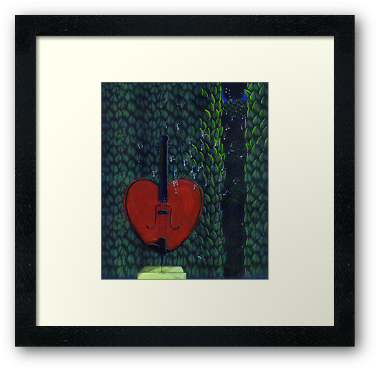 Base of My Heart No.2 (Sold) by Donna Huntriss
