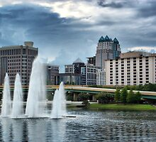 Orlando Skyline in HDR by Rick  Bender
