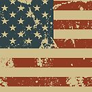 Independence Day America Grunge Flag  by CroDesign