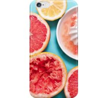 Juicy citruses on the blue iPhone Case/Skin