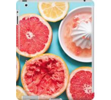 Juicy citruses on the blue iPad Case/Skin