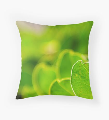 Leaves in colour Throw Pillow