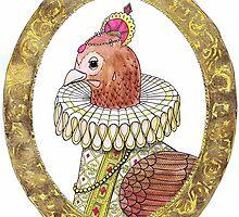 Queen Renaissance Chook by Vicky Pratt