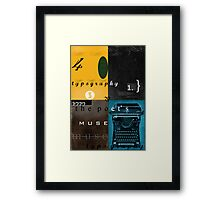 typography and the poet's muse Framed Print