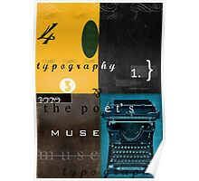 typography and the poet's muse Poster