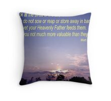 OUR FATHER CARES Throw Pillow