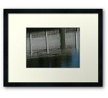 the docks influence  Framed Print
