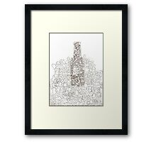 happiness in a bottle Framed Print