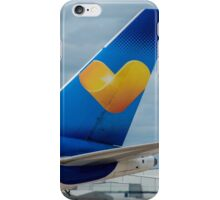 Thomas Cook Airlines Boeing 767 tail in old livery iPhone Case/Skin