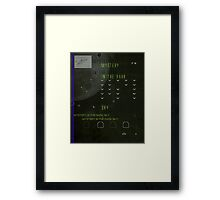 ufo land Framed Print