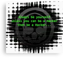 Hacker 1.0 - Geek Philosophy style skull - Software, coding and hacking designs  Canvas Print