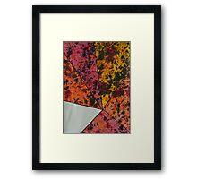 Corner Splatter # 10 Framed Print
