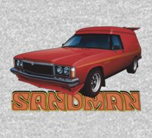 HZ Holden Sandman Panel Van - Red Kids Tee