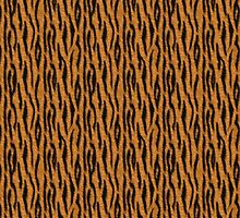 Tiger Stripes Print by Linda Allan