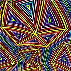 Rainbow triangles abstract by Shellibean1162