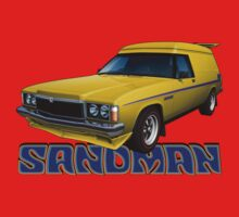 HZ Holden Sandman Panel Van - Yellow One Piece - Long Sleeve