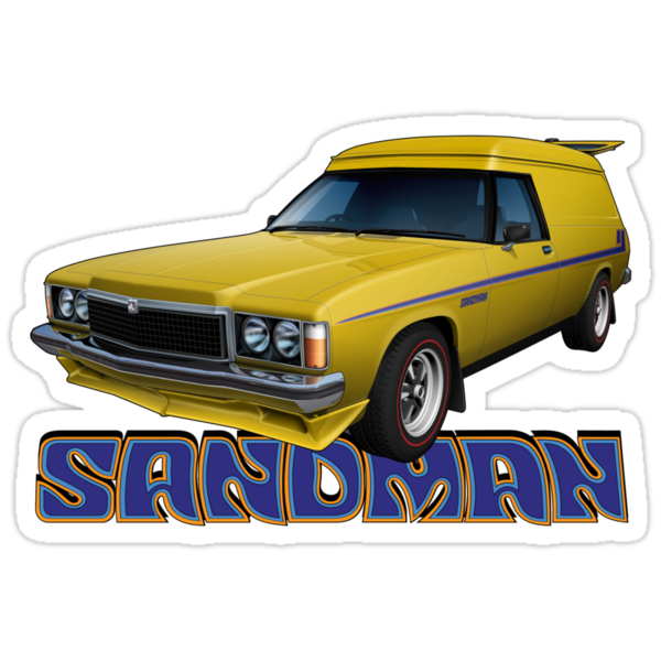 HZ Holden Sandman Panel Van - Yellow by tshirtgarage