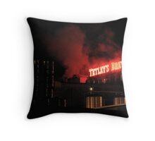 Tetley Brewery Leeds Throw Pillow
