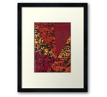 Corner Splatter # 7 Framed Print