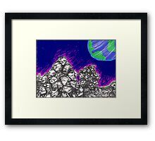 Waiting for the Resurrection (on the Moon) Framed Print