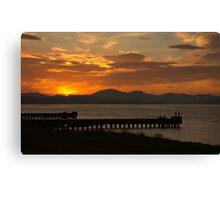 Clyde Sunset Canvas Print