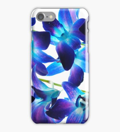 Purple Orchids on White iPhone Case/Skin