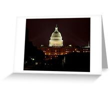 lights on the Capitol Greeting Card