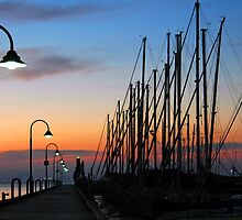Dawn @ The Pier by Alison Badgery