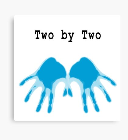 Hands of Blue Canvas Print