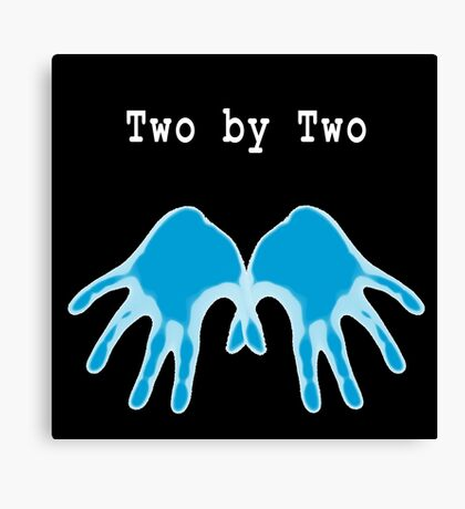 Hands of Blue (in Black) Canvas Print