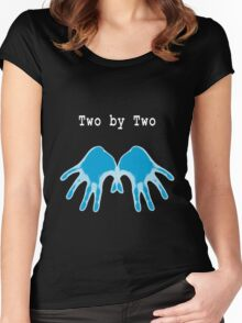 Hands of Blue (in Black) Women's Fitted Scoop T-Shirt