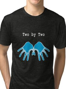 Hands of Blue (in Black) Tri-blend T-Shirt