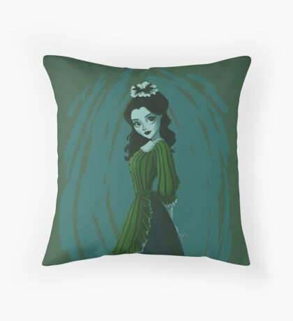 Morbid Maid Throw Pillow