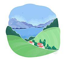 Mountain village landscape Photographic Print