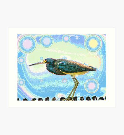 Bird Contemplates The Cosmos Art Print