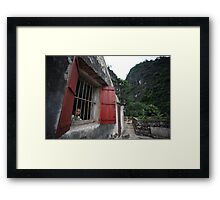 Boy in the Window Framed Print