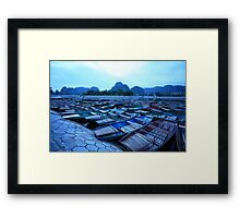 Empty Boats Framed Print