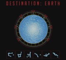 Destination Earth gate black background by Vinchenko