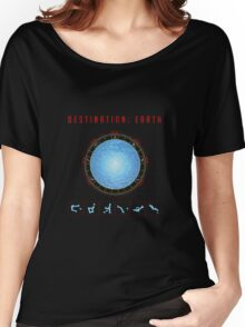 Destination Earth gate black background Women's Relaxed Fit T-Shirt