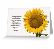 Like a sunflower . . . Greeting Card