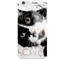 Henry, the Tuxedo Cat iPhone Case/Skin