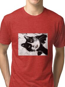 Henry, the Tuxedo Cat Tri-blend T-Shirt